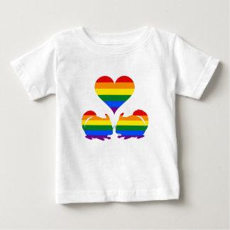 T-shirt Pour Bébé Chinchilla d'arc-en-ciel