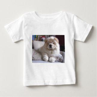 T-shirt Pour Bébé Chiot blanc de bouffe de bouffe de souffle crème