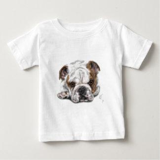 T-shirt Pour Bébé Chiot de bouledogue