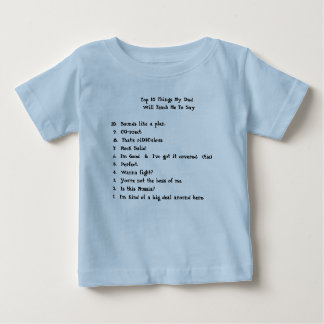 T-shirt Pour Bébé Choses du principal 10 mon papa             …