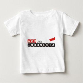 T-shirt Pour Bébé cinta Indonésie d'aku