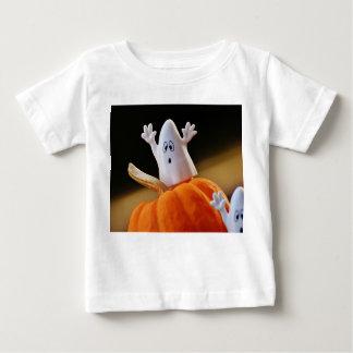 T-shirt Pour Bébé Citrouille et fantôme - fantôme drôle - citrouille