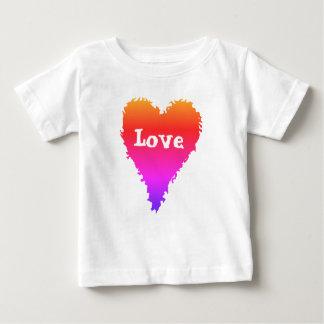 T-shirt Pour Bébé Coeur coloré d'amour
