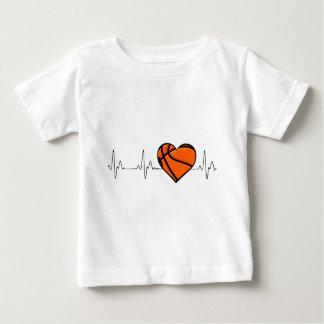 T-shirt Pour Bébé COEUR de basket-ball