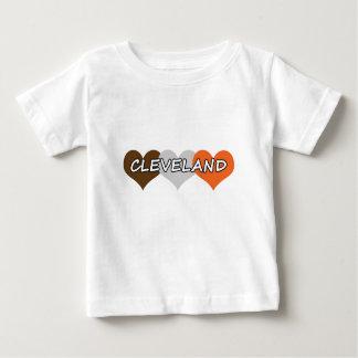 T-shirt Pour Bébé Coeur de Cleveland