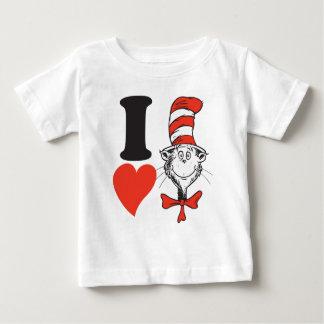 T-shirt Pour Bébé Coeur de Dr. Seuss Valentine   I le chat dans le