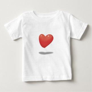 T-shirt Pour Bébé Coeur de flottement, ballon de coeur