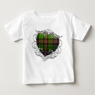 T-shirt Pour Bébé Coeur de tartan d'Allison