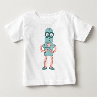 T-shirt Pour Bébé Coeur de Valentine de robot