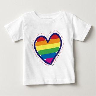 T-shirt Pour Bébé Coeur d'esprit de gay pride