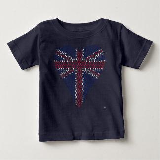 T-shirt Pour Bébé Coeur d'Union Jack
