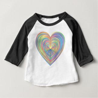 T-shirt Pour Bébé Coeur en pastel