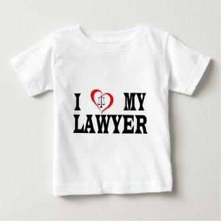 T-shirt Pour Bébé Coeur I mon avocat