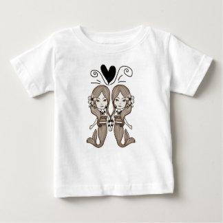 T-shirt Pour Bébé Coeur jumeau de sirènes