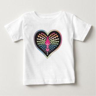 T-shirt Pour Bébé Coeurs de pavot des trolls |