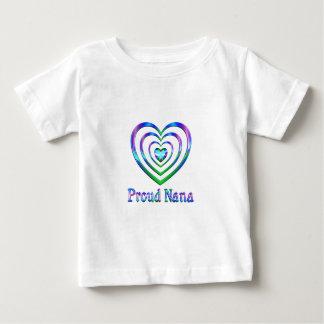 T-shirt Pour Bébé Coeurs fiers de Nana