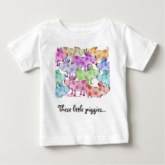 T-shirt Pour Bébé Collage porcin