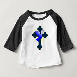 T-shirt Pour Bébé Colombe et croix