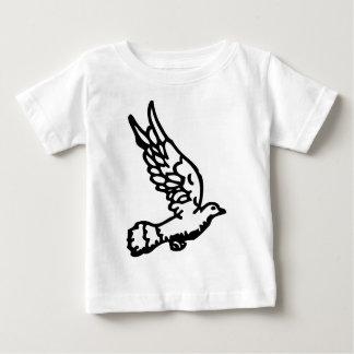 T-shirt Pour Bébé Colombe volante