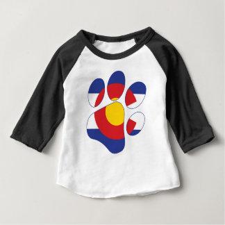 T-shirt Pour Bébé Colorado-Paw-Print-1