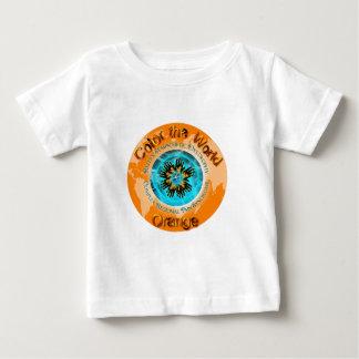 T-shirt Pour Bébé Colorez l'orange du monde - la double glace