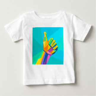 T-shirt Pour Bébé Comme le style géométrique de signe de main
