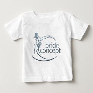 T-shirt Pour Bébé Concept de bouquet de fleur de silhouette de jeune