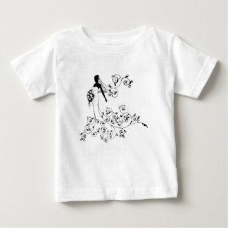 T-shirt Pour Bébé Concept de mariage de bouquet de silhouette de