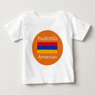 T-shirt Pour Bébé Conception arménienne de drapeau et de langue