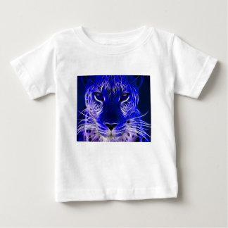 T-shirt Pour Bébé conception bleue de fractale de guépard