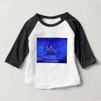 T-shirt Pour Bébé Conception bleue urbaine de Jane Howarth