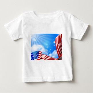 T-shirt Pour Bébé Conception d'arrière - plan de ciel de drapeau