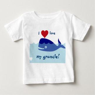 T-shirt Pour Bébé Conception de baleine avec amour d'I mon gruncle !