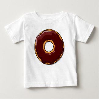 T-shirt Pour Bébé Conception de beignet de chocolat de bande