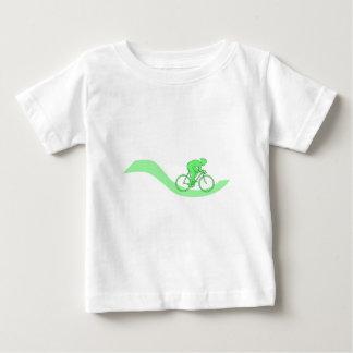 T-shirt Pour Bébé Conception de cycliste en vert