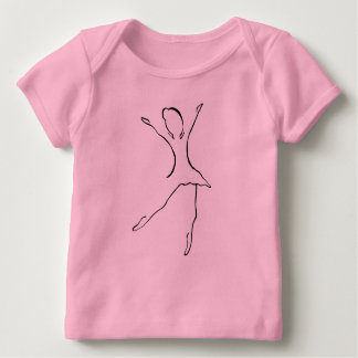 T-shirt Pour Bébé Conception de danse de ballet