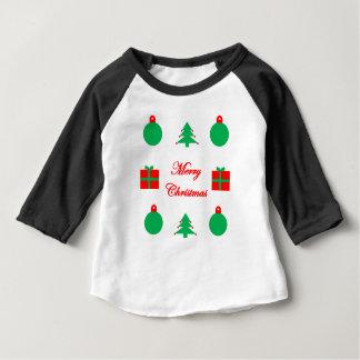 T-shirt Pour Bébé Conception de Joyeux Noël