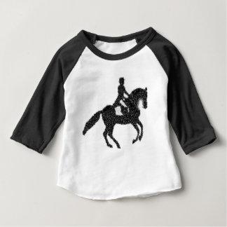 T-shirt Pour Bébé Conception de mosaïque de cheval et de cavalier de