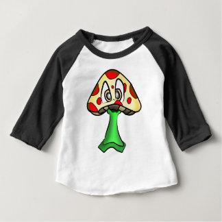 T-shirt Pour Bébé Conception de tête de champignon