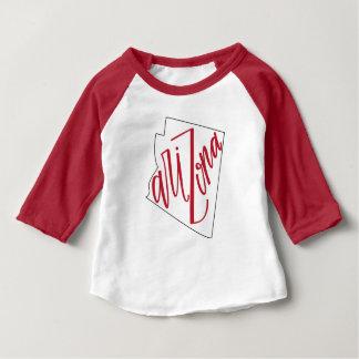 T-shirt Pour Bébé Conception de typographie d'état de l'Arizona |