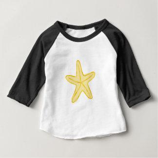 T-shirt Pour Bébé Conception d'étoile pour le jaune d'étoiles de mer