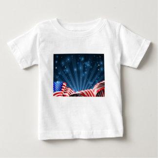T-shirt Pour Bébé Conception patriotique ou politique de drapeau