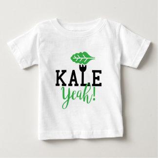 T-shirt Pour Bébé Conception végétalienne ouais drôle de chou frisé