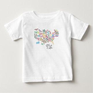 T-shirt Pour Bébé Configuration de texte de manuscrit des Etats-Unis