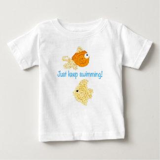 T-shirt Pour Bébé Continuez juste la natation !