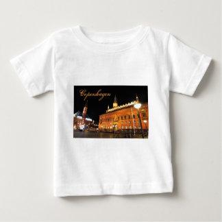 T-shirt Pour Bébé Copenhague, Danemark la nuit