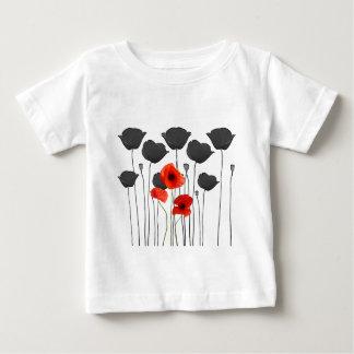 T-shirt Pour Bébé coquelicot