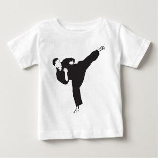 T-shirt Pour Bébé Coup-de-pied de karaté