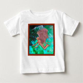 T-shirt Pour Bébé Coupe d'imaginaire de bête de monstre de rose de