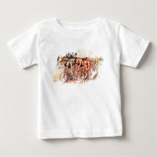 T-shirt Pour Bébé Course de bicyclette